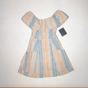 Reformation striped dress size 0